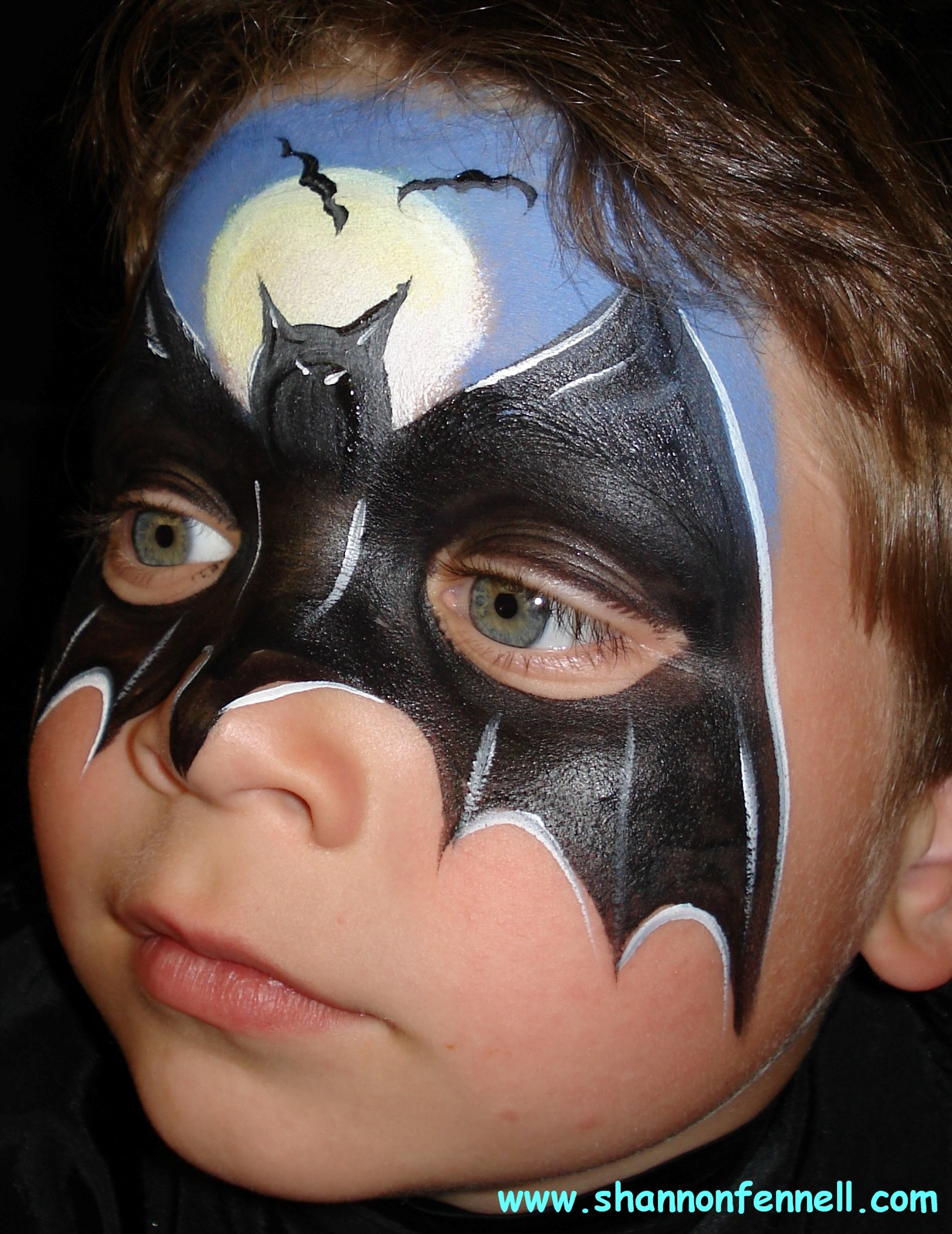 Bat Face Makeup Bat Mask Face Painting